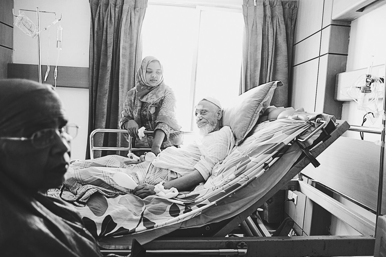 Togetherness Hospital Illness Old Age Old People The Elderly Grandparents Black And White The Secret Spaces TCPM The Portraitist - 2017 EyeEm Awards