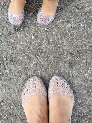 Mom And Daughter Small And Big Shoes Cute Lovely