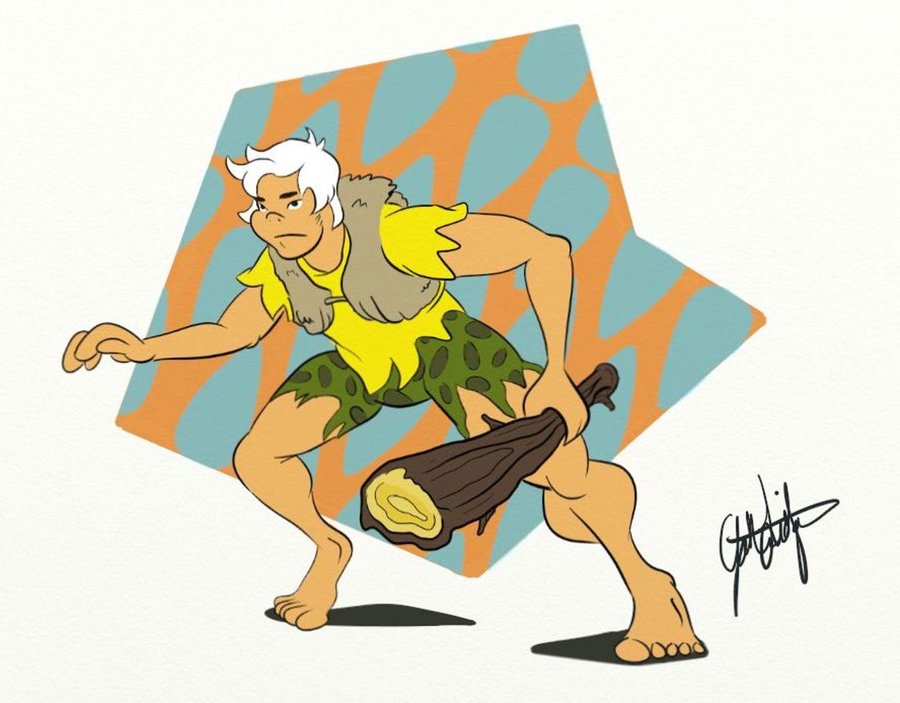 Sketch_dailies Drawing Bammbamm TheFlintstones