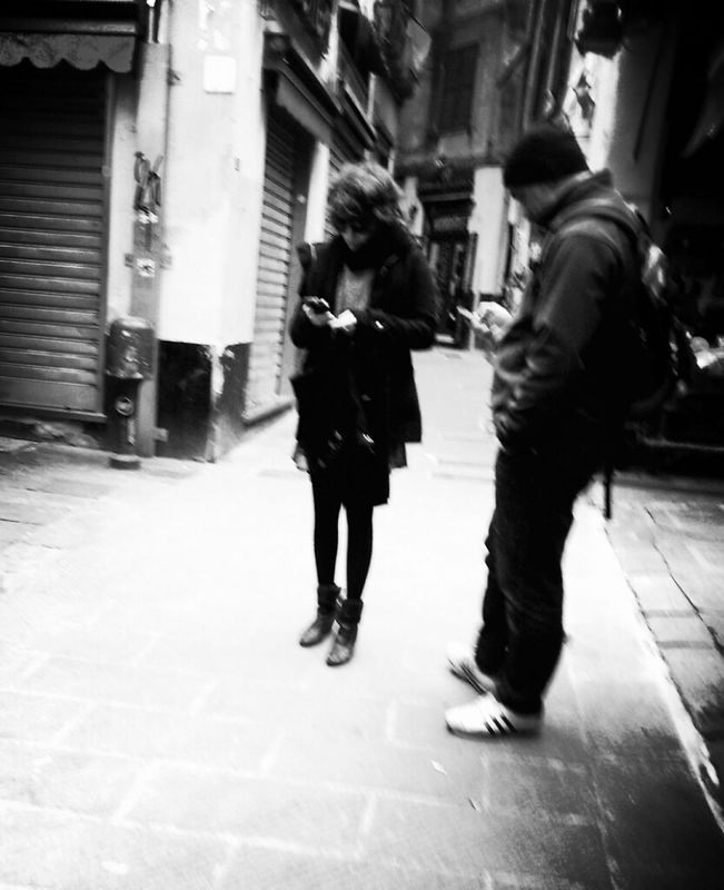 Street Life monochrome streetphoto_bw bw_collection Candid Sneak Shot eye4black&white  by Simodenegri