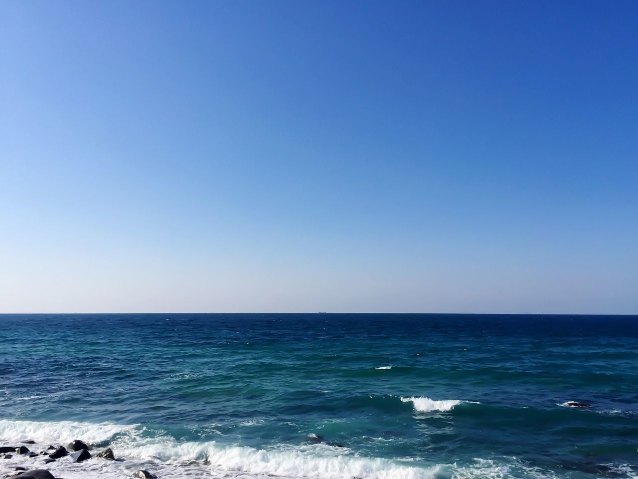 Sea Copy Space Water Horizon Over Water Blue Scenics Beauty In Nature Clear Sky Nature Tranquility Tranquil Scene Outdoors No People Beach Day Sky Fukuoka,Japan Iphonephotography