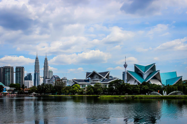 Battle Of The Cities Water Architecture Cloud - Sky Outdoors City Life KLCC Twin Towers KLCC Tower KL TOWER