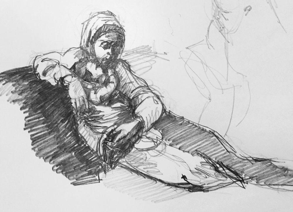 My Pencil sketch (Caravaggio copy) Pencil Drawing Madonnaandchild Tadaa Community Caravaggio Streamzoofamily Black & White Drawing Make It Yourself Pencil Sketch