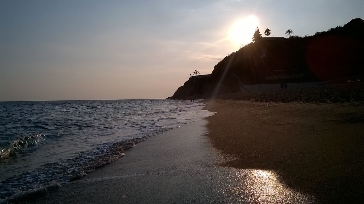 Architecture Beach Beauty In Nature Cliff Day Horizon Over Water Nature No People Outdoors Sand Scenics Sea Sky Sun Sunlight Sunset Tranquil Scene Tranquility Travel Destinations Water Wave