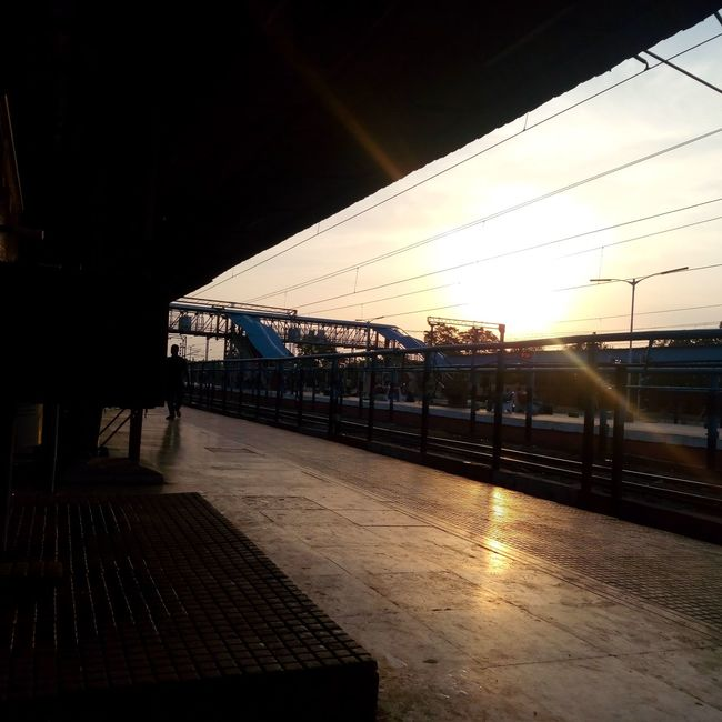 Morning in indian railway station. First Eyeem Photo Follow4follow Visakhapatnam Followback Sunrise Photography India_clicks