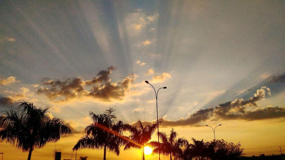 Sunset Sunshine Sun Sky End Day Orange