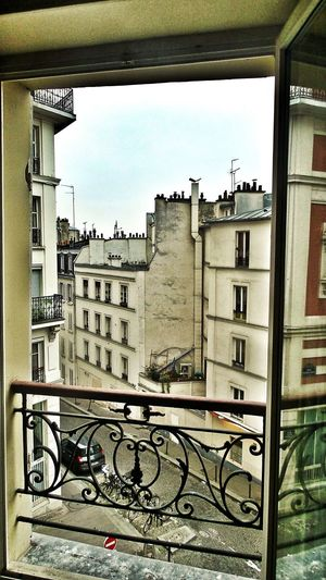 The Chimneys Of Paris Roofs View From The Top View Through The Window Backyard Atmosphere Classical Balcony Grid No People Street Portrait City Houses Early Sunday Morning No Life In The Streets Showcase April Paris, France  Home Is Where The Art Is