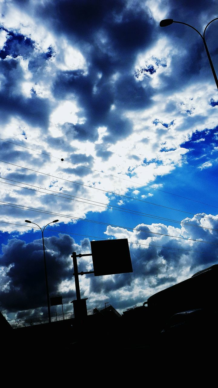 sky, low angle view, silhouette, cloud - sky, no people, nature, outdoors, day, beauty in nature