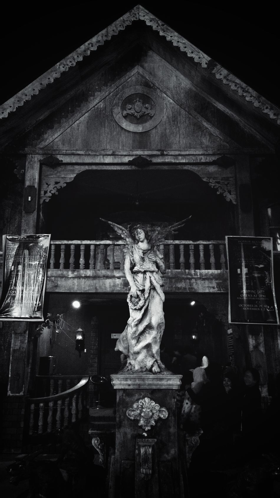 Haunted House Statue No People Built Structure Architecture Outdoors Sculpture Travel Destinations Geometric Architecture EyeemPhilippines Eyeem Philippines Lines And Patterns Black And White Collection  Black & White Photography EyeEm Travel Photography Arts Culture And Entertainment Architecture Culture And Tradition Belief And Faith Vacation Destination Human Representation Guardian Lifestyles Statue
