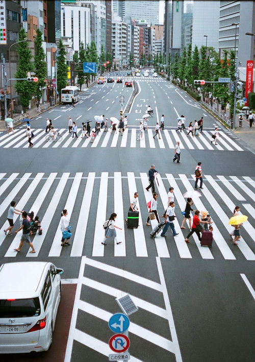Architecture Building Exterior Car City City Life City Street Crossing Crowd Day High Angle View Land Vehicle Large Group Of People Men Outdoors Pedestrian Real People Road Road Marking Rush Hour Street Traffic Transportation Walking Women Zebra Crossing