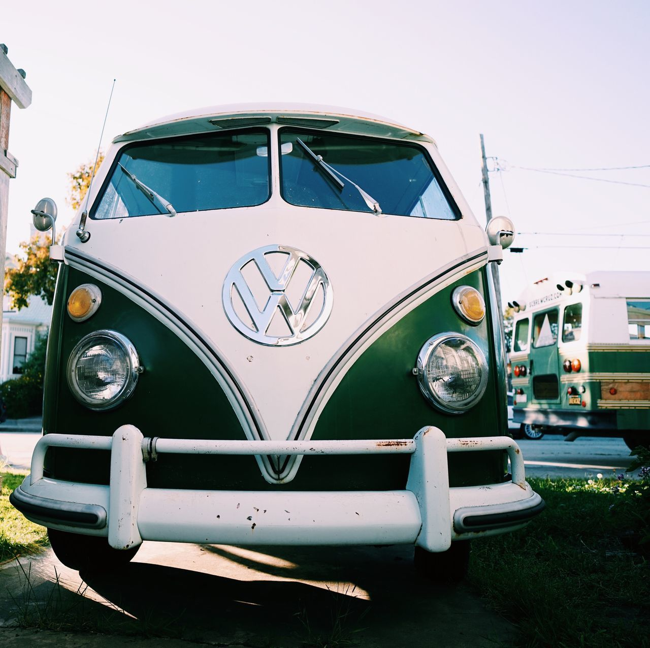 VW Bus Beauty // Transportation Car Mode Of Transport Land Vehicle No People Day Outdoors Old-fashioned Close-up Sky