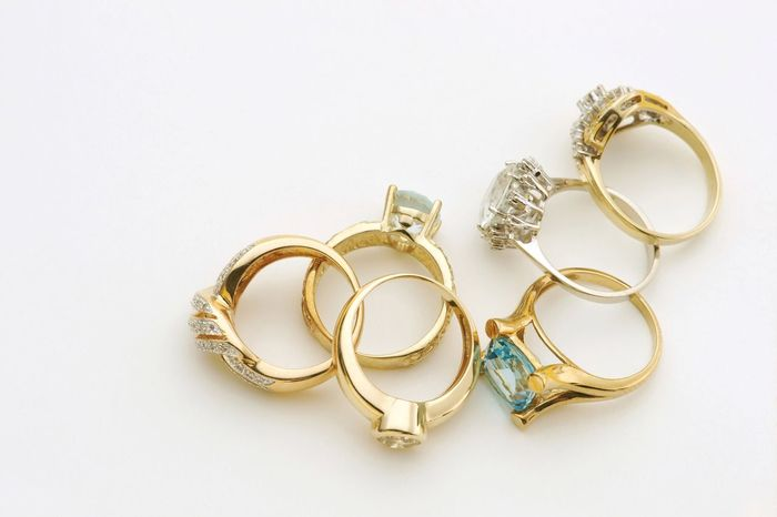 rings Rings Jewelry Jewellery Jewels Ring Gold High Angle View Nobody No People Copy Space