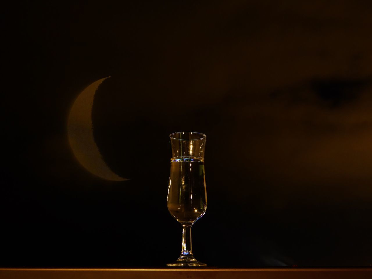 A Magic Potion and I am Feeling Good for Saturdaysong_eyeemchallenge Nightphotography Night Lights Open Edit Holiday POV Liquid Lunch Showcase: February Moon And Clouds