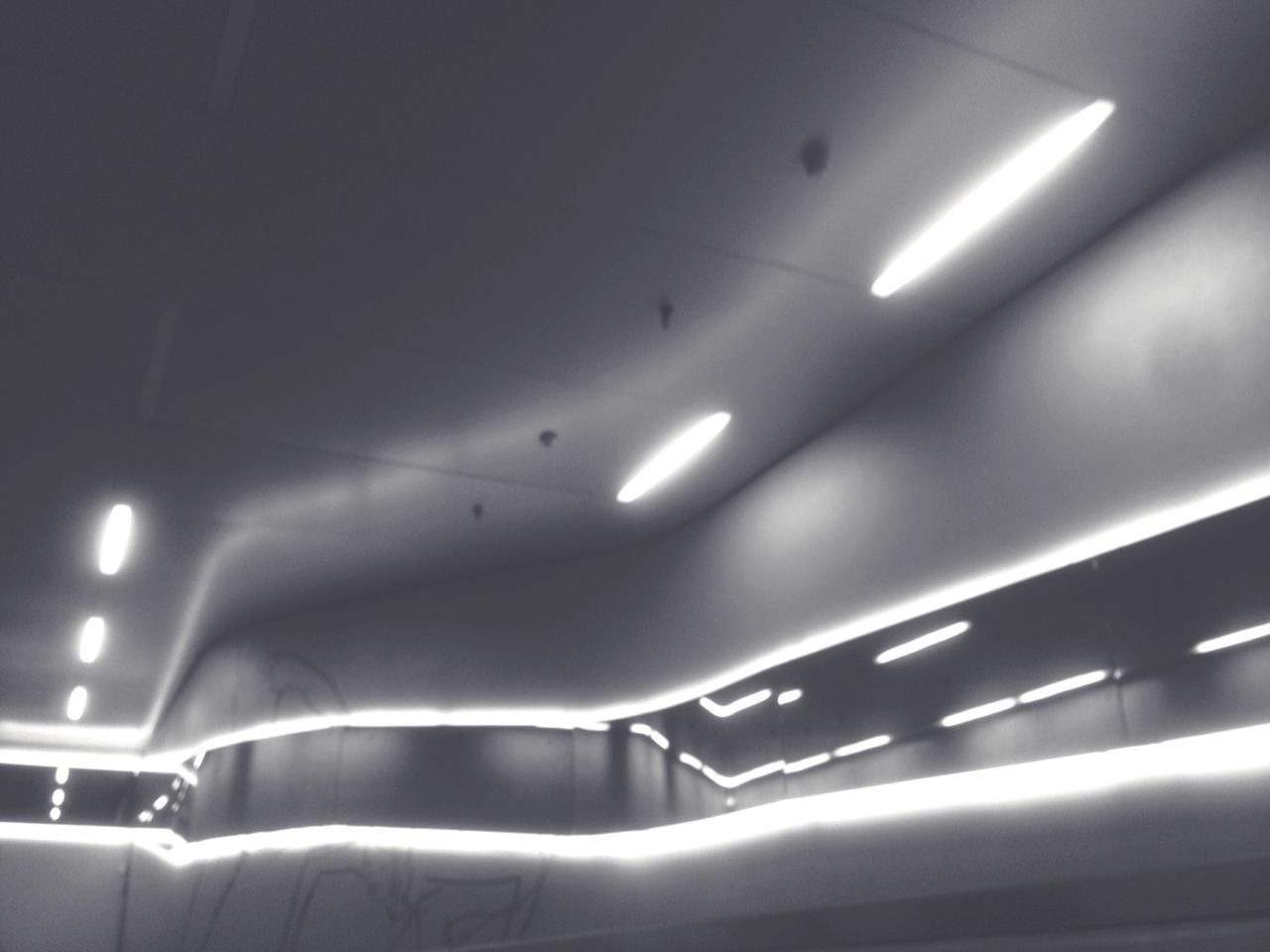 ceiling, illuminated, indoors, lighting equipment, no people, architecture, day