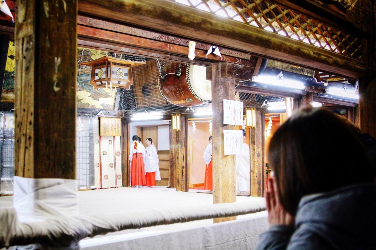 New Year's Visit To A Shrine Hakusan Jinjya Shrine Niigata Japan Japanese Traditional Night Photography