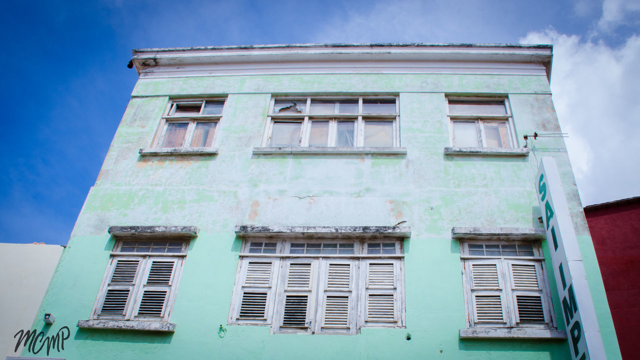 Architecture Building Exterior Built Structure Curacao (willemstad) Day House Lookingup Low Angle View No People Outdoors Residential Building Sky Window