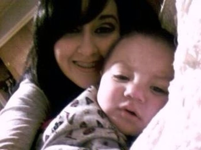 Old Pic Of Me And Baby Alex When I Had Braces:D