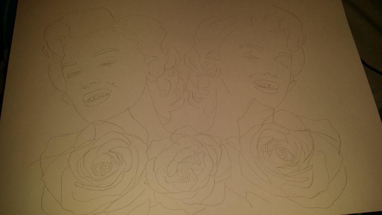 I will start tomorrow Blackandwhite Art Roses Girl