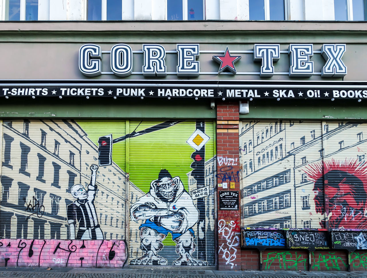 Architecture Art Art, Drawing, Creativity Berlin Mitte Berliner Ansichten Building Exterior Built Structure City Cityscape Downtown District Graffiti Graffiti Art Multi Colored No People Outdoors Shopfront Shopping Urban Urban Skyline