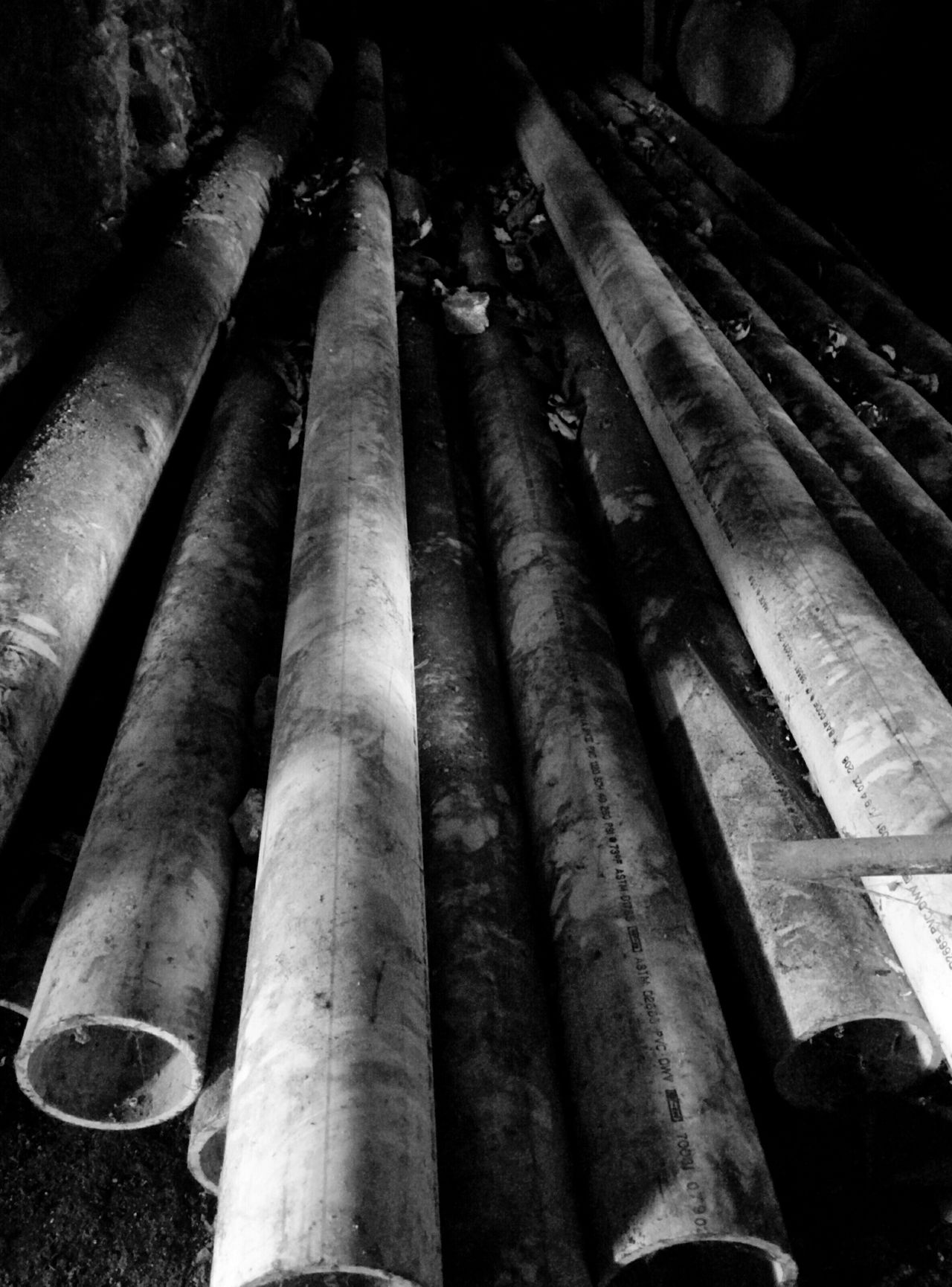 Urban Exploration Pipes Playing With The Shadows