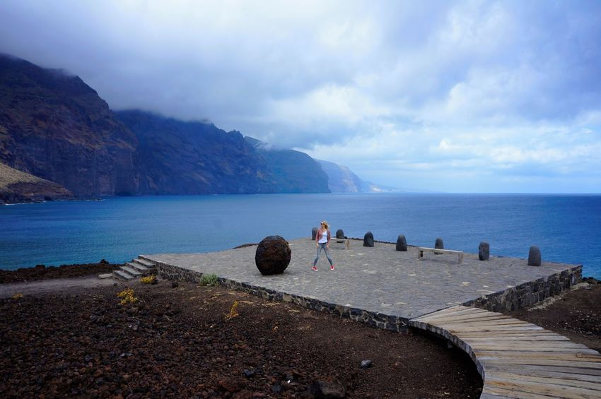 Mountain Lake Beauty In Nature Scenics Outdoors Beach Water Landscape Nature Cloud - Sky Tenerife Tranquility Nature Sky