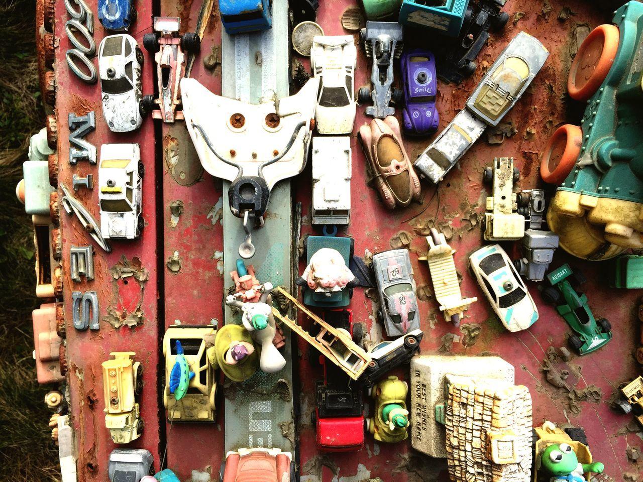 Toys Abandoned Art Cars Pattern Broken Rust