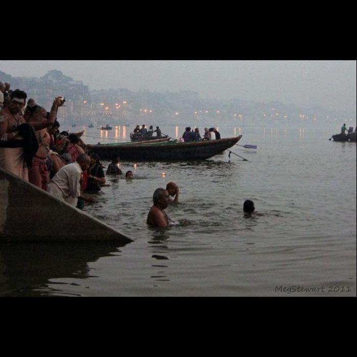 Morning Ritual Travel Photography Ganges Incredible India