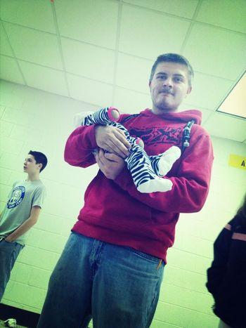 Dustin with faiths baby.