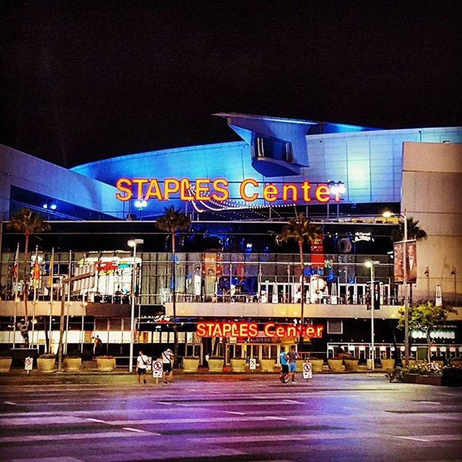Staples Center. Thisisourhome Lobcity Losangeles Downtown Straightoutta Staplescenter Cali Lalive Lalife Onatuesday