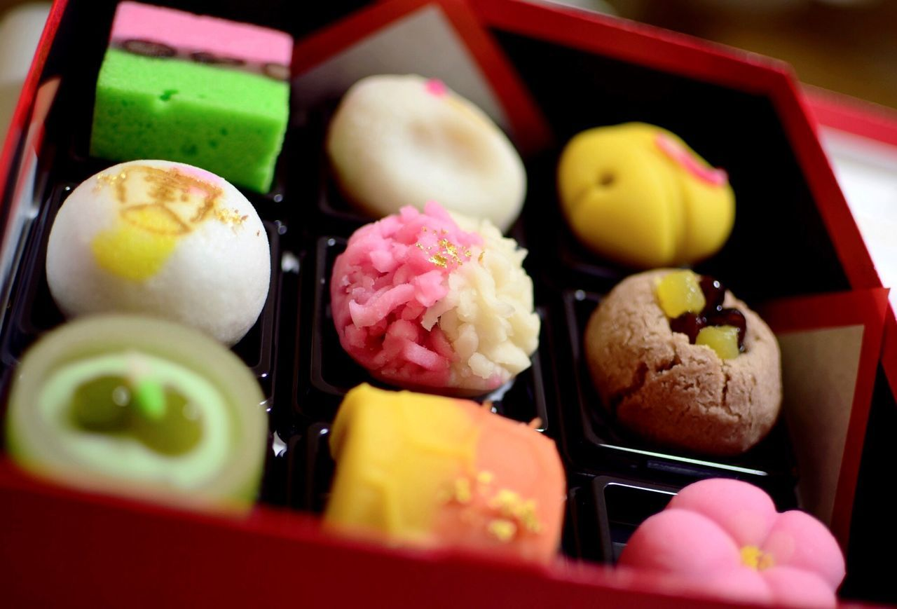 Sweet Food Japanese Sweets Japanese Wagashi Sweets Wagashi Colorful Colorful Photo Multi Colored Multicolors  Traditional Traditional Culture Japanese  New Year 2017 Happy New Year 2017 和菓子 彩り 和み 祝い菓子 縁起物 Food Photography EyeEm Food Photography Close-up