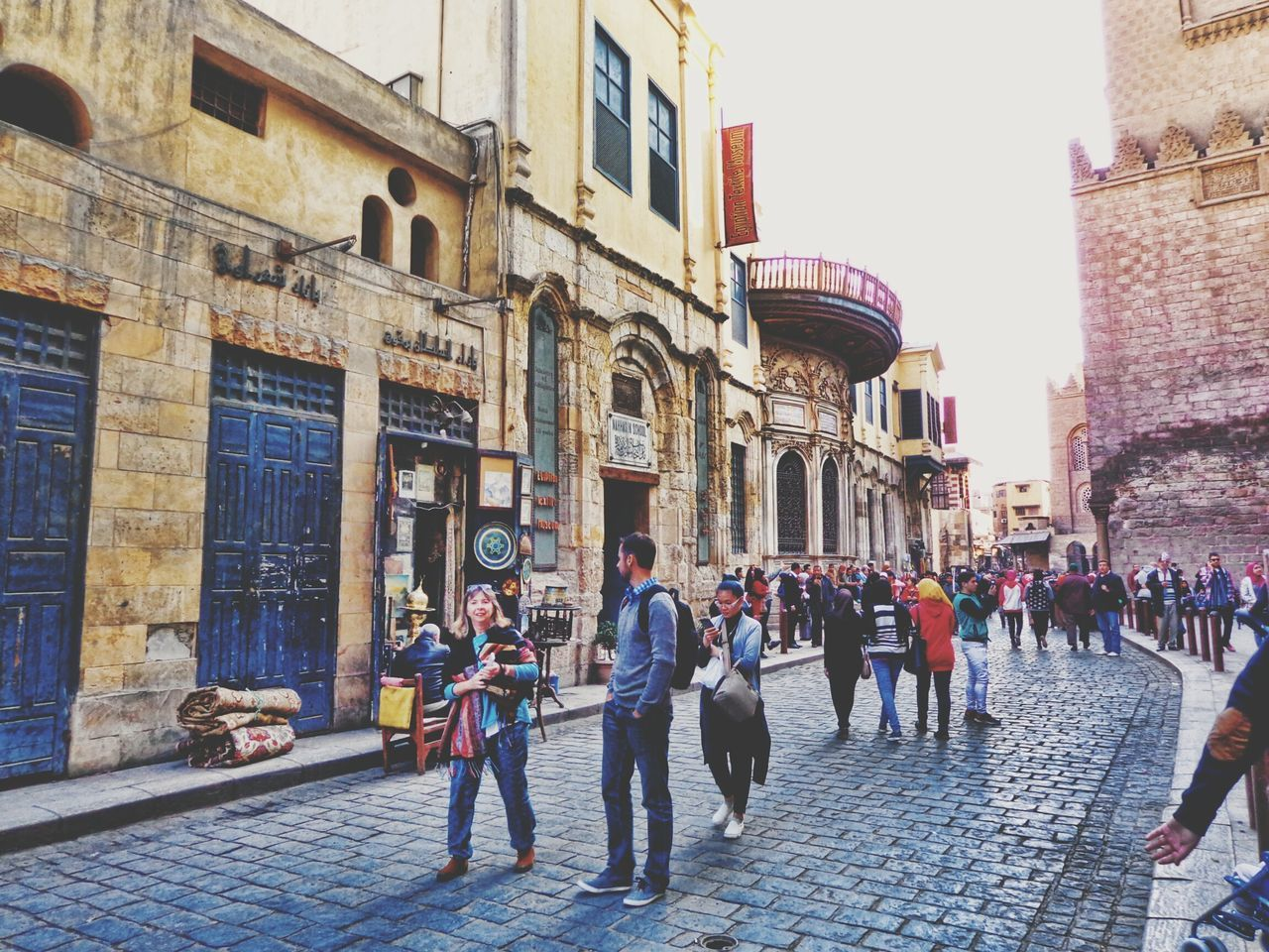 Travel Destinations Building Exterior City Built Structure Architecture History Tourist Day Outdoors Full Length Large Group Of People Women Sky People Variation Sunlight Islamic Cairo Close-up Fatimid History Al-moez Street Cairo Egypt Spirituality Charm Historical Place Antique Shop
