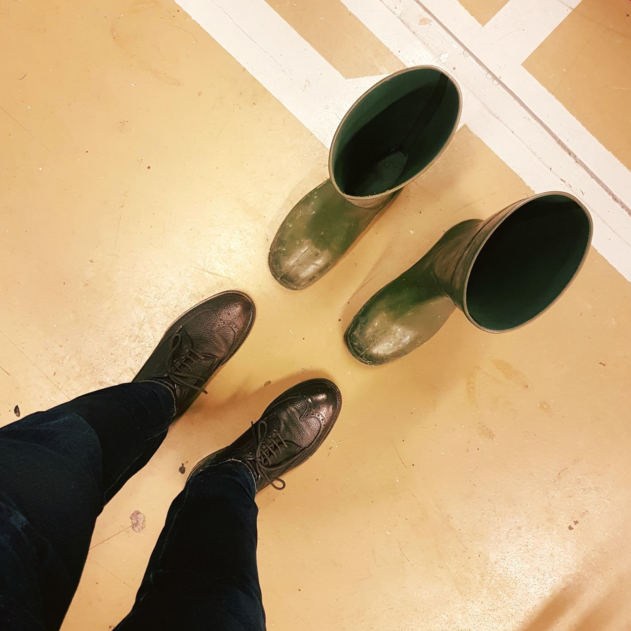 Shoes Brogues Rubber Boots Brewery Floor