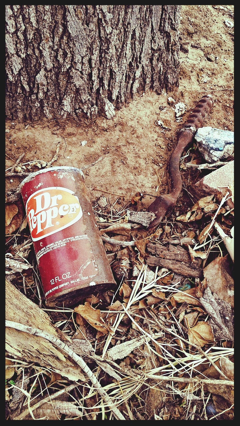 Dr. Pepper Left Behind Beauty In Ordinary Things Upclose  Soda Urban Debris Relic From The Past Drink Up Left On The Street 1960s Drpepper Old Can