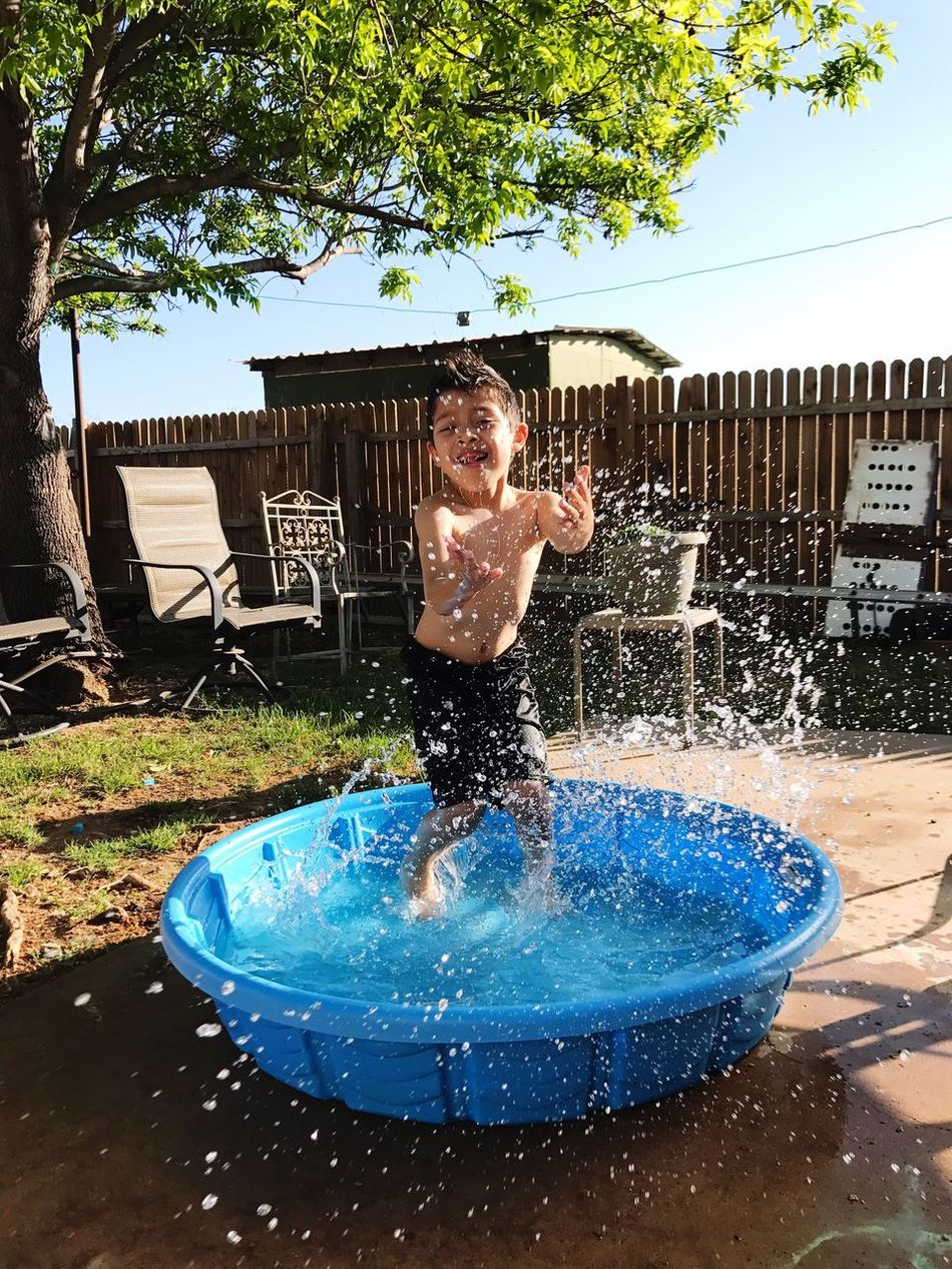 Summer here we come. Forget Spring. Water Play.Kiddiepool Splashing Nephewlove