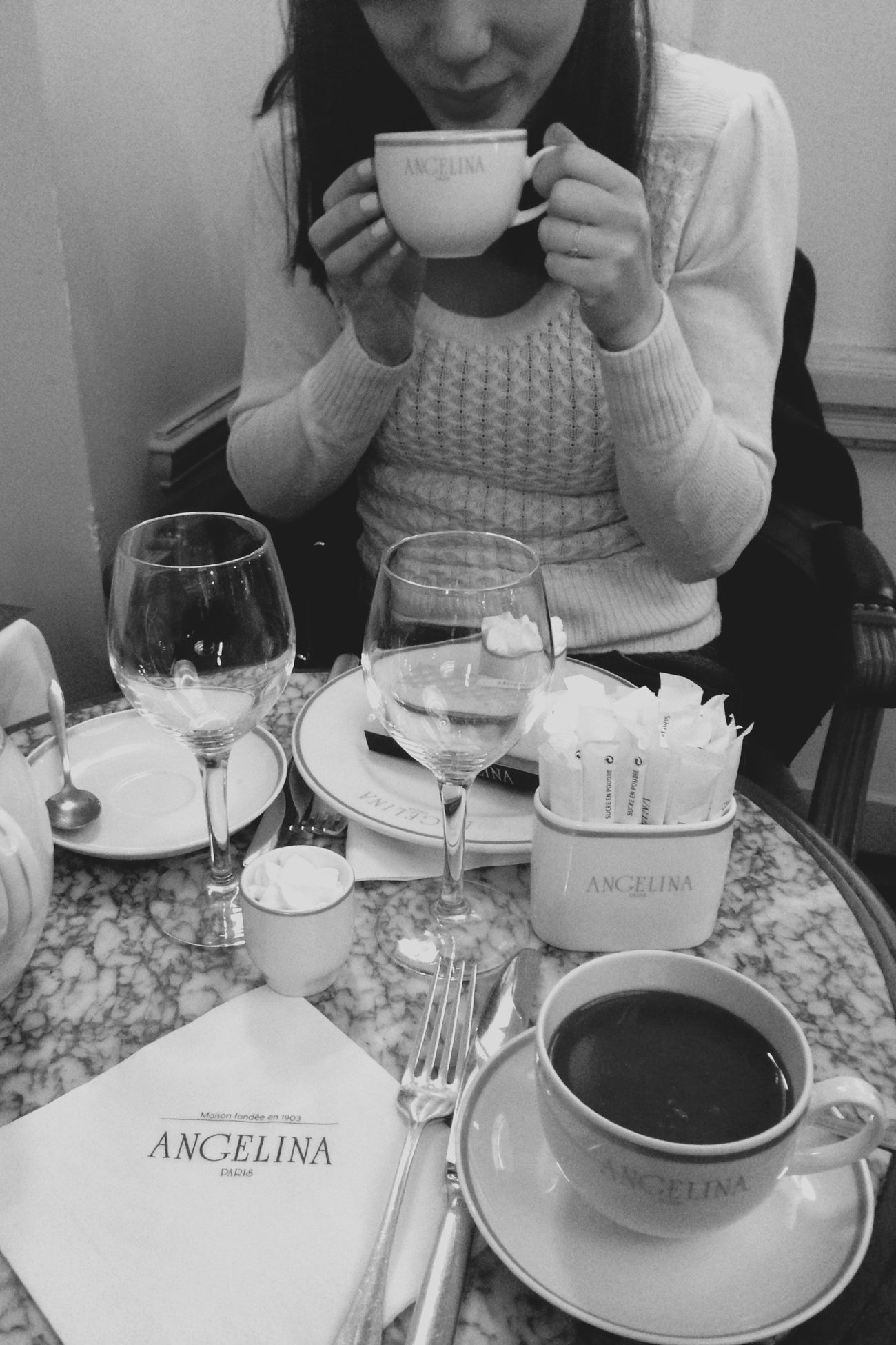 One of the most famous tea house Paris ParisianLifestyle IPhoneography Blackandwhite Enjoying Life Food Enjoying A Meal