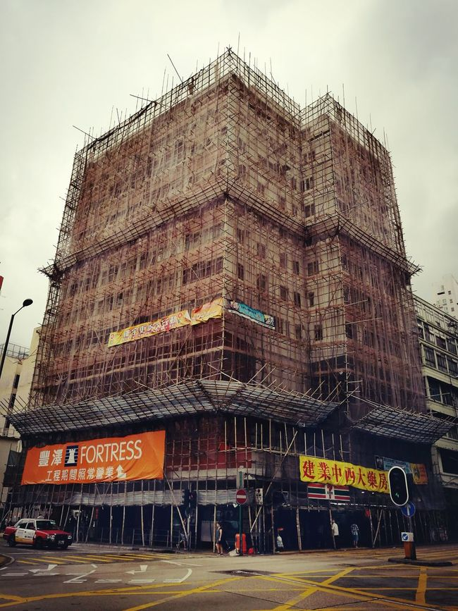 Architecture Old Buildings Oldbuilding Bamboo Fence Bamboo Repair Work StreetMaintenance Work Fresh On Eyeem  Walking Around The City  City View  Cityscape Shum Shui Po Discover Hong Kong The Architect - 2016 EyeEm Awards