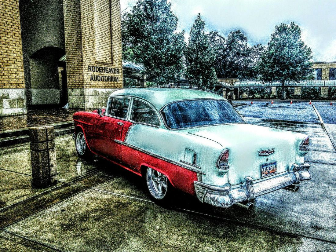 I took this picture at a college with a '60s night. This car was there! 60's Car Vintage Car Cool Car First Eyeem Photo