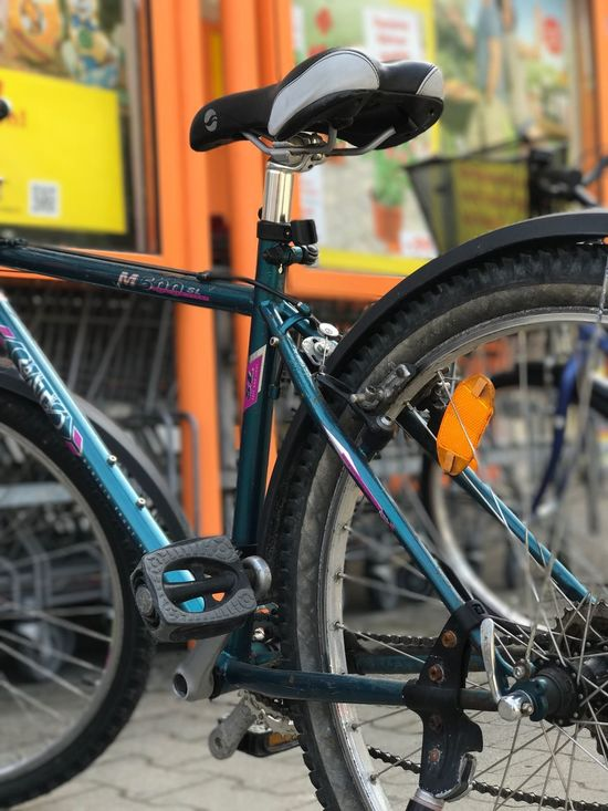 Bicycle Transportation Mode Of Transport Land Vehicle Stationary Focus On Foreground Wheel Pedal Outdoors No People Tire Day