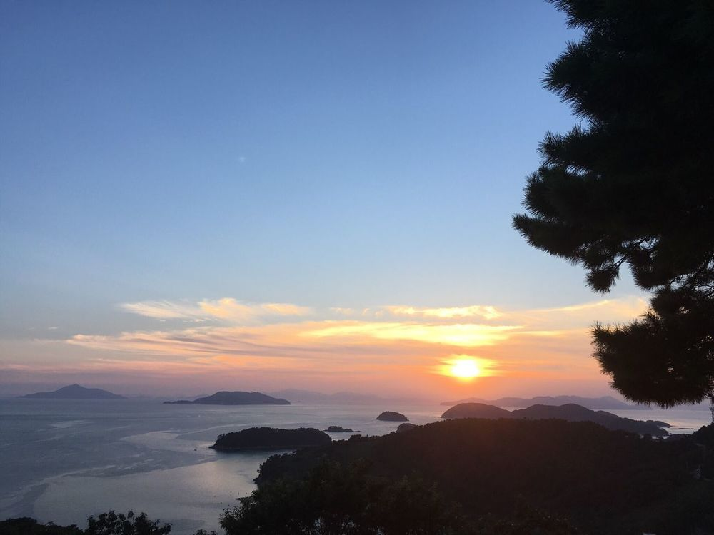 Korea Namhae Sea Bay Nationalpark Sunset Traveling Chilaxing  Trip Scenics Nature Beauty In Nature