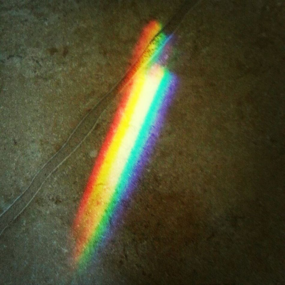 omg I just found little piece of rainbow on the floor ! :) Prismatic Effect Rainbow Light Pantone Colors By GIZMON