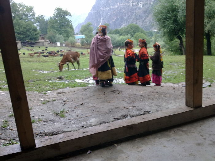 Lovly People Triditional Dress Kalash Valley Pakistan