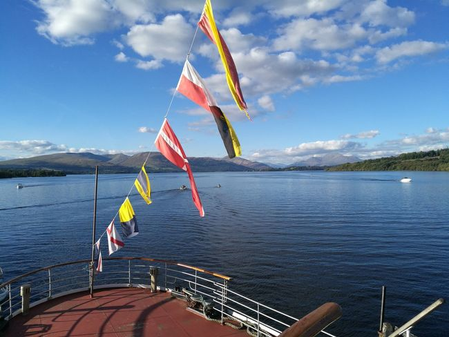 View from the old Maid of the Loch paddle steamer at Loch Lomond. Boats⛵️ Paddlesteamer LochLomond Scotland