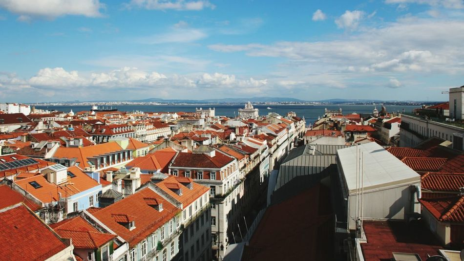 City Travel Destinations Travel Tourism Architecture Town Cityscape Urban Skyline Roof History Sky Vacations No People Day Outdoors Lisboa Skyline Lisbon Portugal Portogallo Lisbona Roofs Red Red Roofs Red Roof