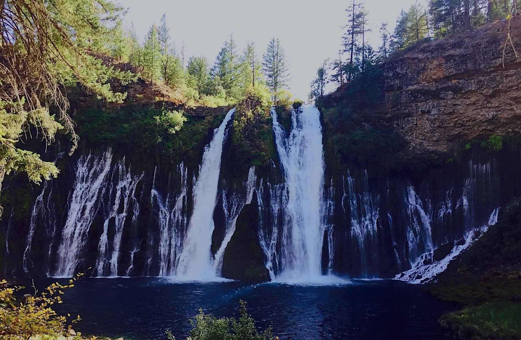 Burney Falls BurneyFalls Waterfall Waterfalls And Calming Views  Waterfall #water #landscape #nature #beautiful