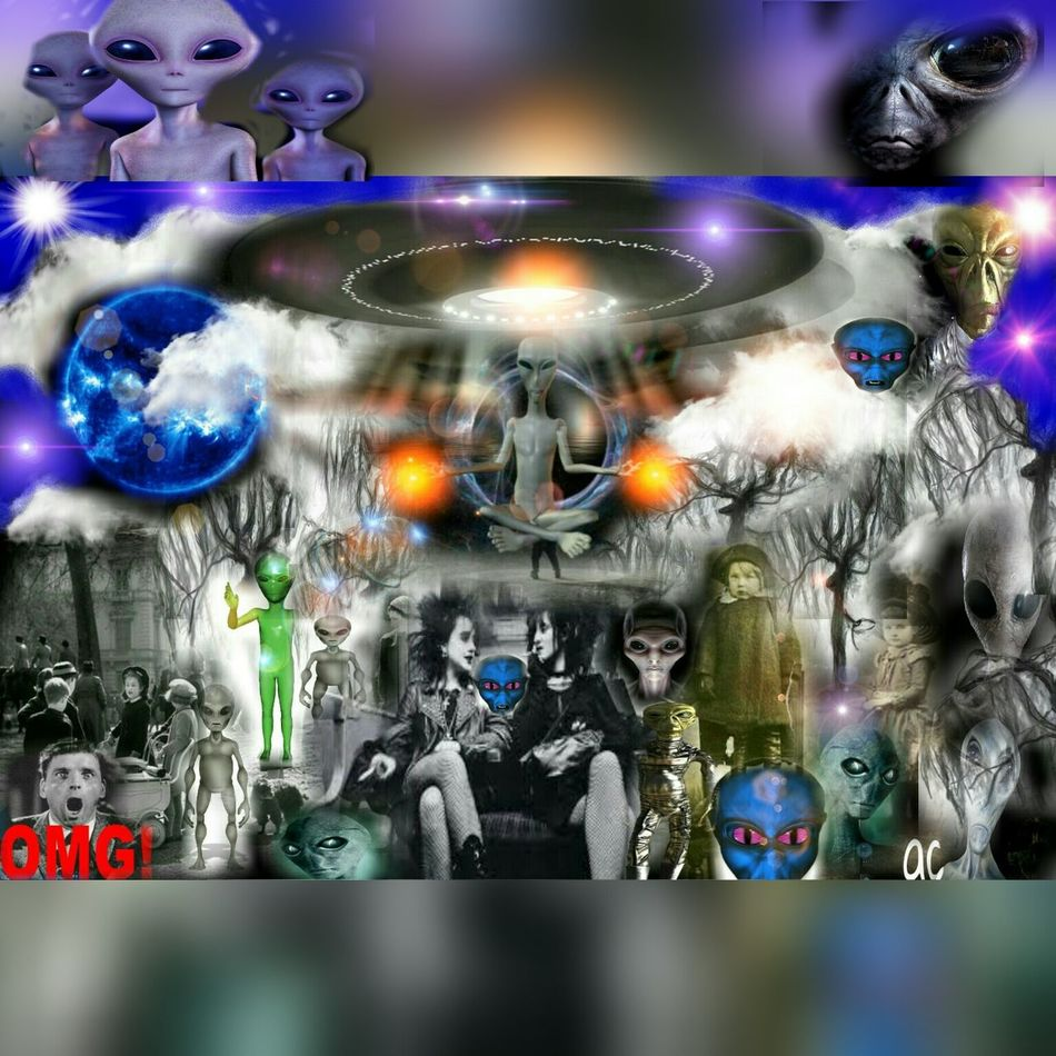 the day the aliens arrived Collage Addicted Collageartwork Collage Collection Collageoftheday Collage Art Collagemaker