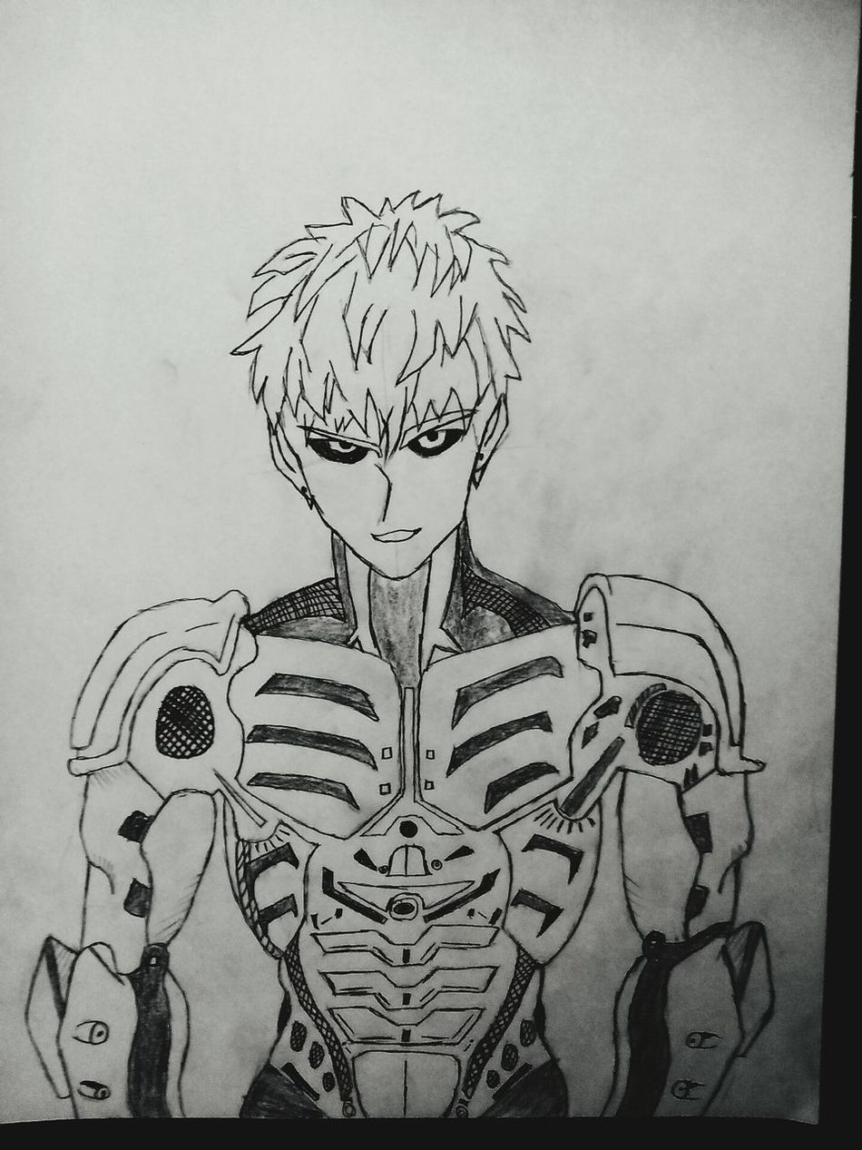Art, Drawing, Creativity Pencil Drawing Genos Onepunchman