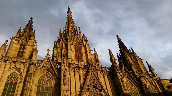 Towers of the Cathedral at Barcelona . Mobile Photography Mobilephotography Sony Xperia Zr Golden Hour Contrast Architectural Detail Architecture Photography Architecture Gothic Architecture Gothic Historic Site Historical Building Tourist Attraction  Old Famous Place Tourist Destination Monuments 43 Golden Moments Showcase July