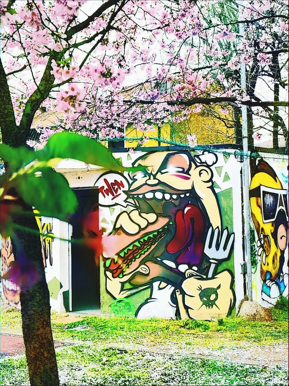 Color and street art Streetphotography Writers Colorful Color Explosion Pink Flower Fluo  Spring Flowers