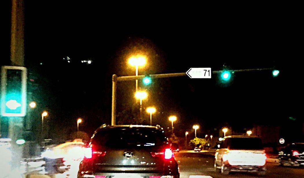 Airplane Landing Street Road Cars Green Light Dubai Colors ♡ Glitch