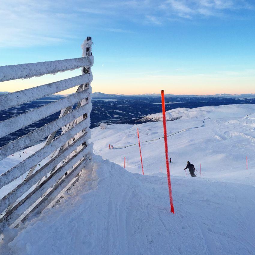 Lovely ski day Åreskutan Sweden Winter Wonderland Skiing